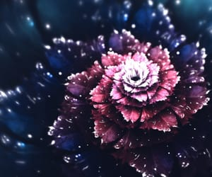 beautiful, digital art, and flower image