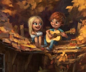 love, guitar, and art image