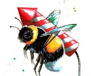 acrylic, art, and bumblebee image
