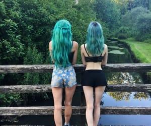 beautiful hair, colored hair, and hair image