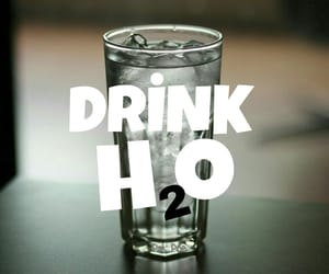 H2o, diet, and drink image