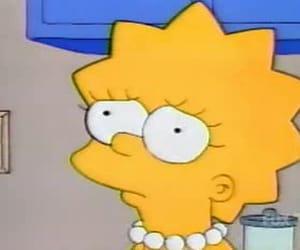 lisa, sad, and the simpsons image