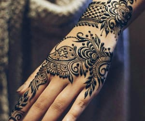 arabic, fashion, and henna image