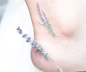 tattoo, flowers, and ankle image