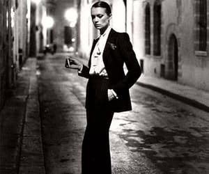 black and white, helmut newton, and woman image