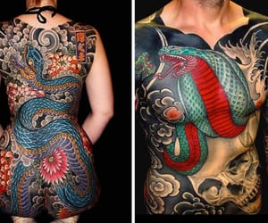 oriental, tattoo, and yakuza image