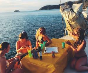 australia, boat, and ocean image