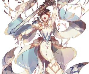 anime, brown, and warrior image