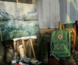 art, green, and painting image