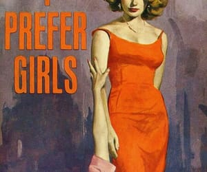lesbian, book cover, and vintage image
