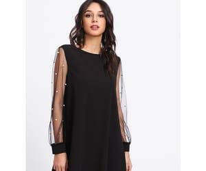 fashion, long sleeve dress, and trendysummer image