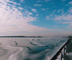 ice, winter, and lake image