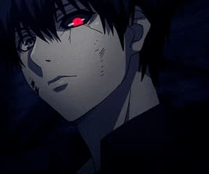 anime, gif, and red eyes image