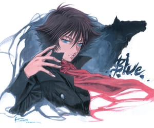 anime, blue, and wolfs rain image