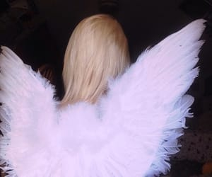 angel, girl, and wings image