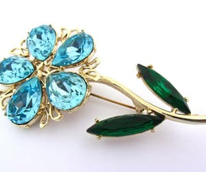 blue, brooch, and rhinestone brooch image