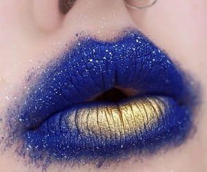 beauty, blue lips, and lips image