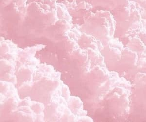 baby pink, clouds, and cotton candy image
