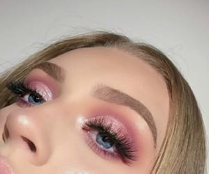 makeup, girl, and pink image