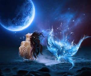 beautiful, mermaid, and light image