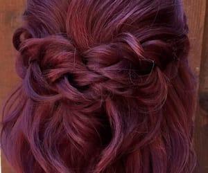 braid, color hair, and hair image