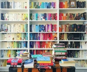 books, read, and colors image