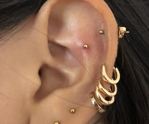 ear, Piercings, and sebastian image