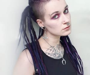 dreadlocks, Mohawk, and Piercings image