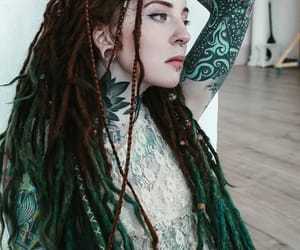 dreadlocks, dreads, and ink image