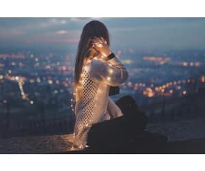 beauty, girls, and lights image
