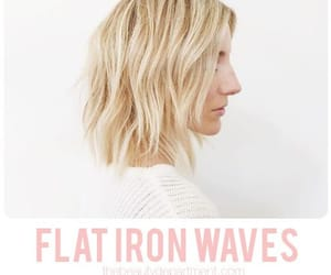 blonde, haircut, and waves image