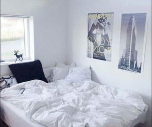 bedroom, room, and white walls image