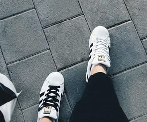 adidas, new yorker, and black and white image