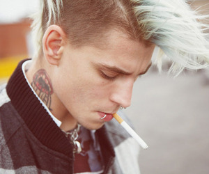 boy, tattoo, and piercing image