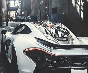 car, white, and mclaren image