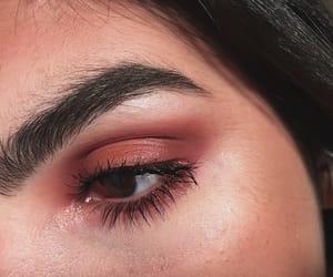 brow, burgundy, and eye image