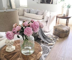 interior design, peonies, and photography image