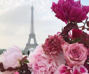 flowers, paris, and bouquet image