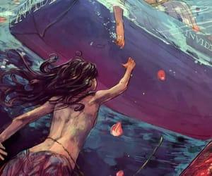 love, mermaid, and art image