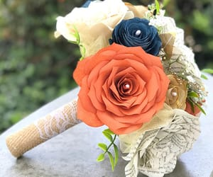 etsy, paper flowers, and fall bouquet image