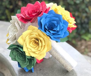 etsy, paper flowers, and paper flower bouquet image