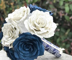 etsy, paper bouquet, and paper flowers image