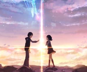 anime, makoto shinkai, and your name image
