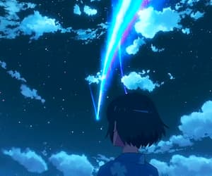 anime, your name, and stars image