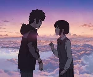 anime, makoto shinkai, and kimi no na wa image