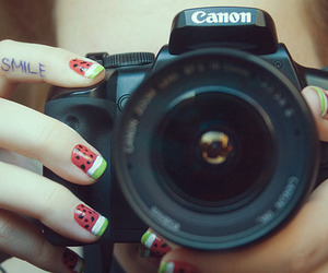 nails, smile, and photography image