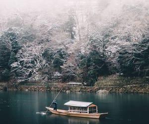 boat, japan, and landscape image