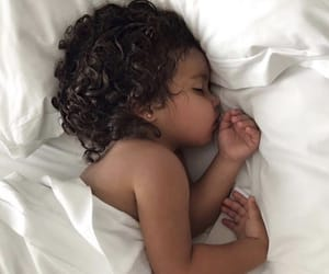 children, dreams, and curly hair image