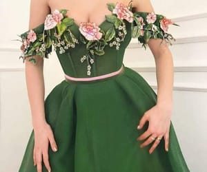 dress, green, and fashion image