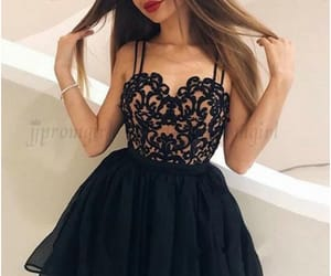 homecoming dresses, dress, and black homecoming dresses image